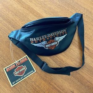 Harley Davidson Leather Fanny Pack/Belt Bag
